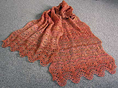 Ostrich Plumes Stole or Scarf PDF