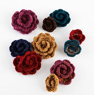 Ravelry: Crocheted Flowers #L20081 pattern by Lion Brand Yarn