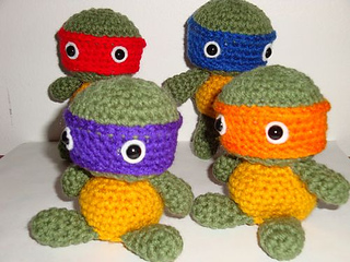 Chiwaluv Amigurumi Critters Blog : Ravelry: Tiny Tot Ninja Turtles pattern by Chiwaluv ...