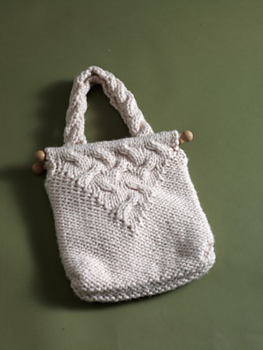 Cable Bag by Lion Brand Yarn