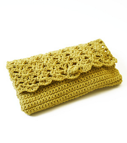 Green Crochet Purse