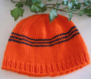 Knit_hat_for_anyone_orange_w_blue_stripes_flat_small2