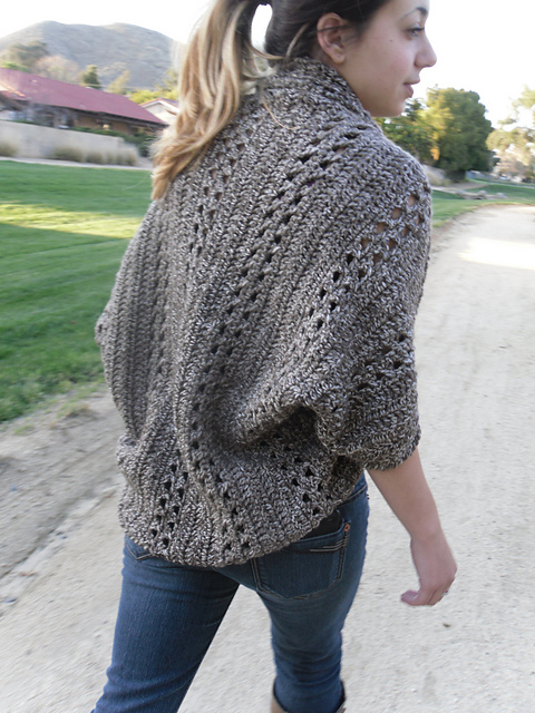 Crochet X-Stitch Shrug by Deanna Young