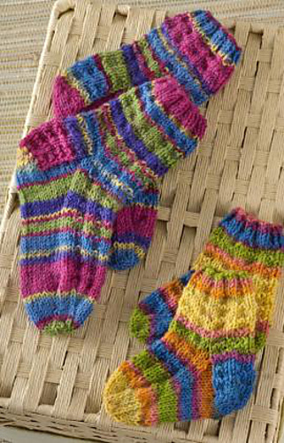 Colourful Knitting Patterns : Ravelry: Colorful Knit Kids Socks pattern by Edie Eckman