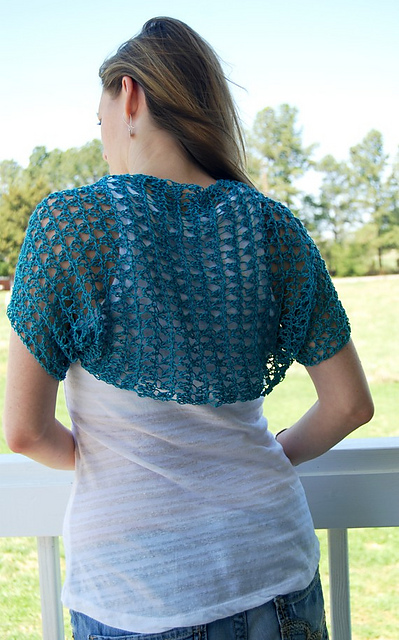 free crochet pattern, shrug, bolero, summer sweater, lightweight