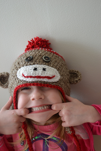 Free Crochet Patterns Monkey Hat : Crochet In Color Just Another Sock Monkey Hat Pattern ...