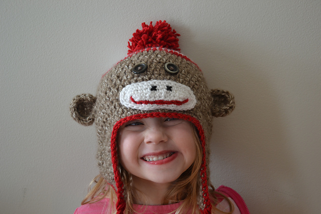 Free Crochet Patterns Monkey Hat : Crochet in Color: Just Another Sock Monkey Hat Pattern