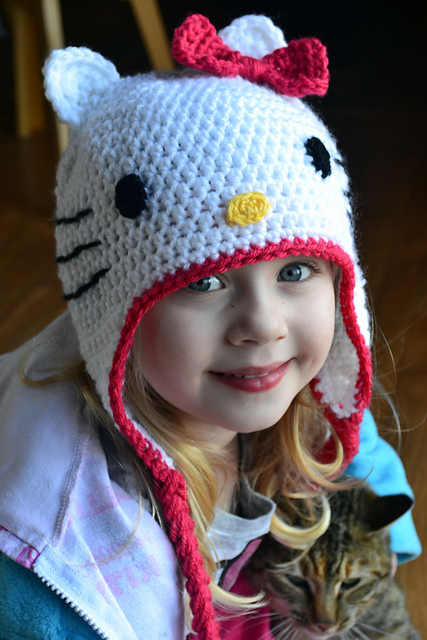 Free Crochet Pattern Hello Kitty Hat : Crochet in Color: Hello Kitty Hat Pattern
