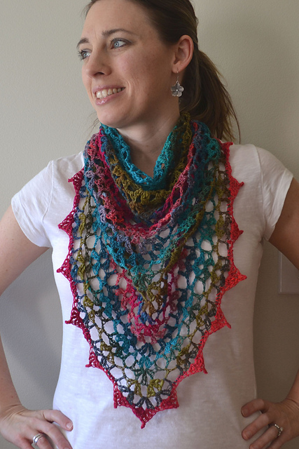 Noro Yarn Free Crochet Patterns : Crochet in Color: My Noro Shawl