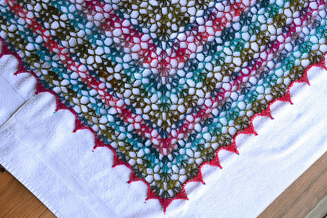 Crochet Patterns Using I Love This Yarn : Crochet in Color: My Noro Shawl