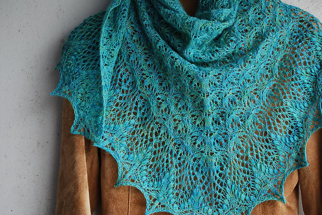 Echo Flower Shawl by Jenny Johnson Johnen