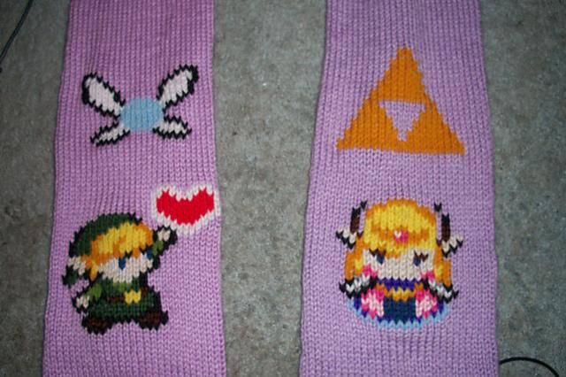 Zelda Scarf Knitting Pattern : Leah s knits legend of zelda scarf