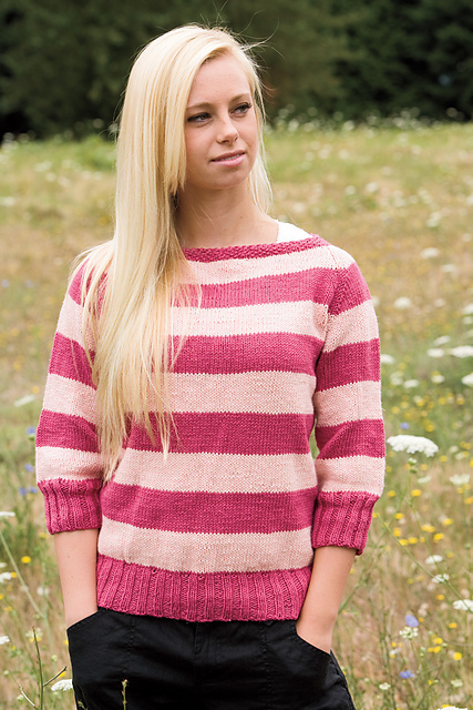 Seamless Boatneck Sweater by Jenise Reid