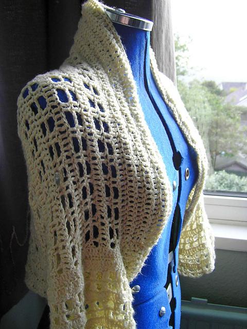 free crochet pattern custard shrug bolero summer sweater vest