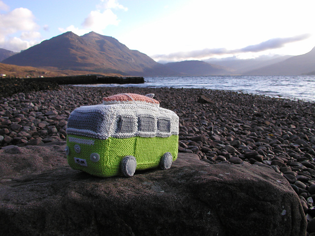 knitted kombivan by Leah Sutton (not same as ours, but gorgeous nonetheless!)