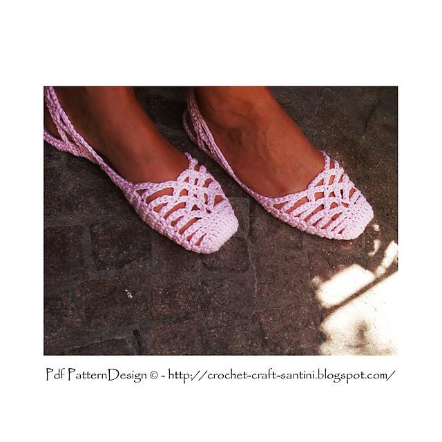 钩针:三、莱西 SlingBack 拖鞋 - maomao - 我随心动