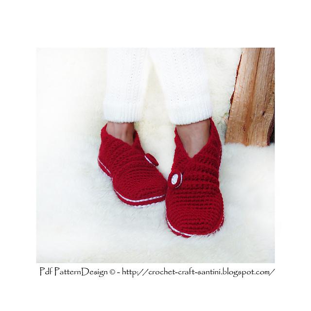 钩针:二、红肋拖鞋 - maomao - 我随心动