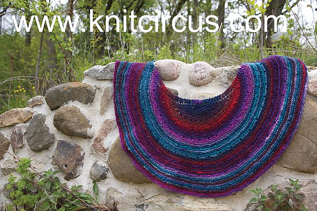 Silk Moon Cresent Shawl