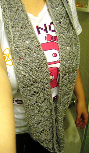 Infinity Scarf Knitting Pattern Size 17 Needles : Storied Yarns: Infinitely Simple Lace Infinity Scarf: Free ...