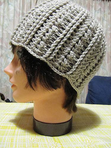 A Beautiful Ramble Urban Shells Beanie Free Crochet Pattern