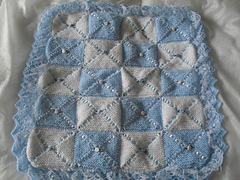 Knitting Pattern Baby Blanket Double Knitting : Ravelry: double layer pram blanket knitting pattern ...