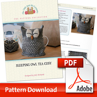 Knitted Owl Tea Cosy Pattern : Ravelry: Sleeping Owl Tea Cosy pattern by Julie Richards
