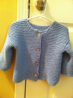 Ravelry: Garter Stitch Baby Cardigan pattern by Colleen Kadleck