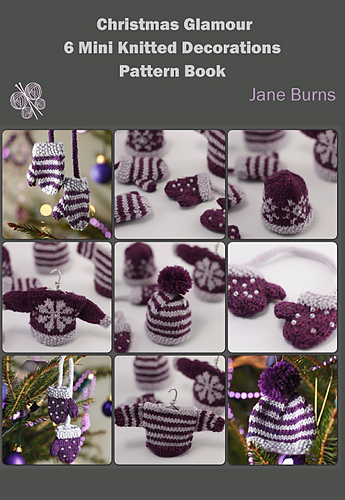 Ravelry: Christmas Glamour 6 Mini Knitted Decorations Pattern Book - patterns