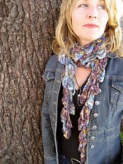 Lettie Crochet Leafy Scarf PDF
