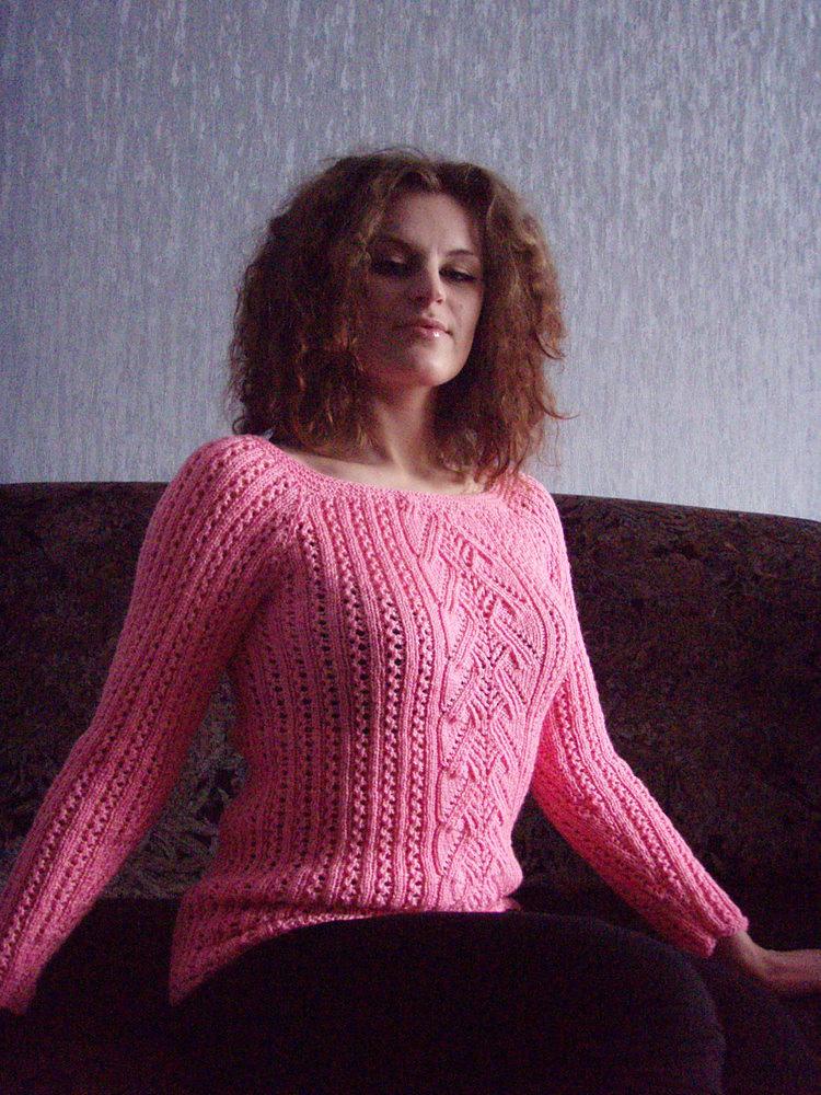 Вязание из розовой пряжи 37