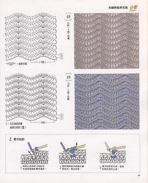 Узоры плотного вязания крючком
