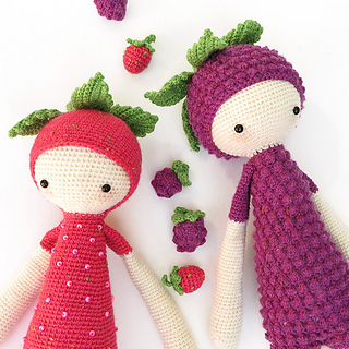 Amigurumi Dolls By Artist Lydia Tresselt : Ravelry: ERNA & BERT - berry mod kit for lalylala dolls ...