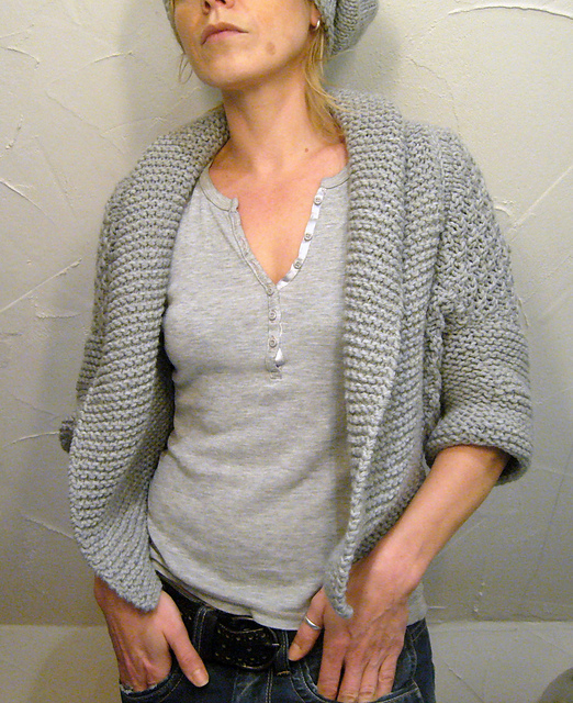 Ladies Shrug Knitting Patterns : IL COPRISPALLE A PUNTO RISO DOPPIO,FERRI 7 La Maglia di Marica