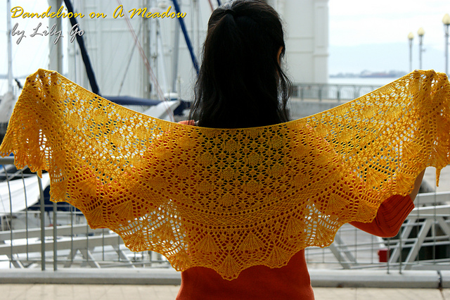 Lilygo Dandelion On A Meadow Knitting Pattern And Kit For Sale