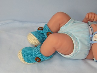 Baby_2_colour_cross_strap_booties02_small2