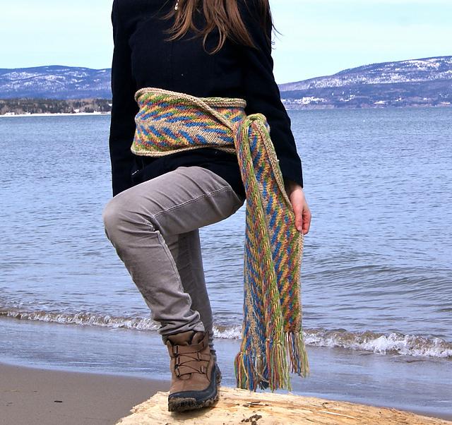 ceinture fléchée tricotée