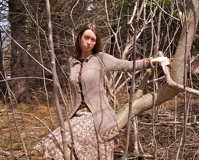 manteau tricoté cerf
