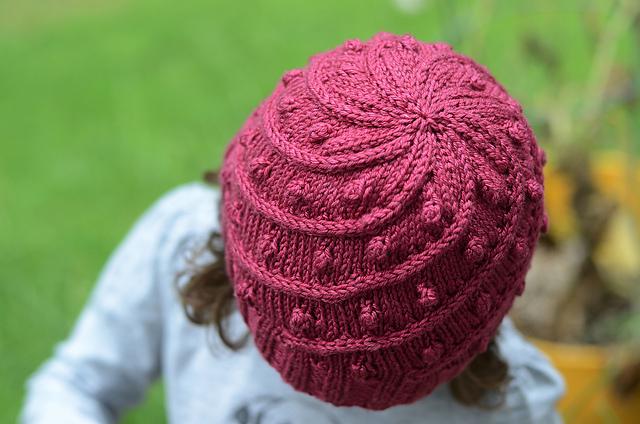 tuque tricotée manège vue du dessus