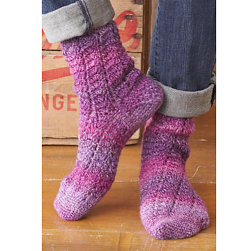 Twisting Lace Socks