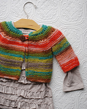 Baby Top-Down Cardigan PDF