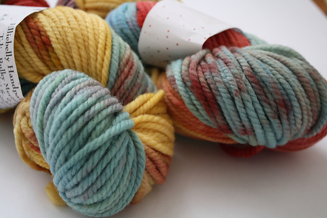"Elliebelly ""Peter Rabbit"" on Talia Bulky Merino - 2 skeins"