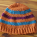 striped hat with ribbed bottom