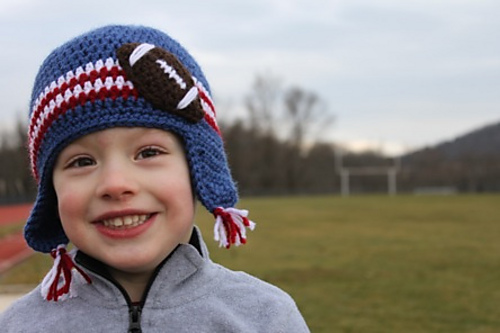 Football Applique Hat by Micah York
