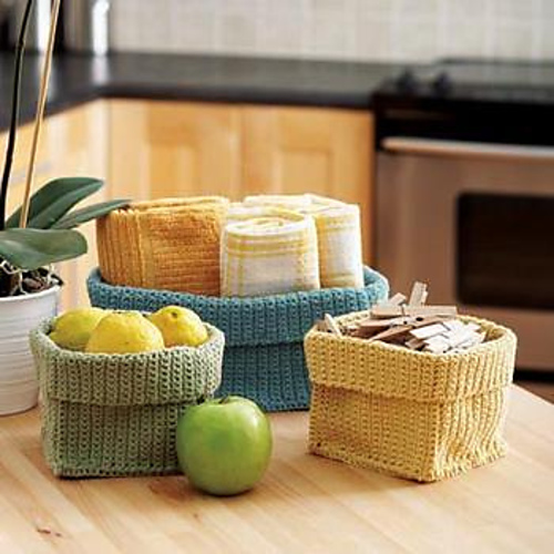 Clutter Control: Stash Baskets by Bernat Design Studio