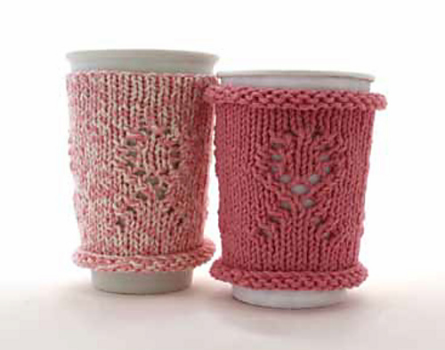 Breast Cancer Awareness Cup Cozy (knit) by Bernat Design Studio
