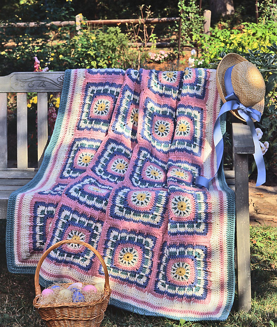 Free Crochet Easter Afghan Patterns : Craftdrawer Crafts: Free Easter Afghan to Crochet
