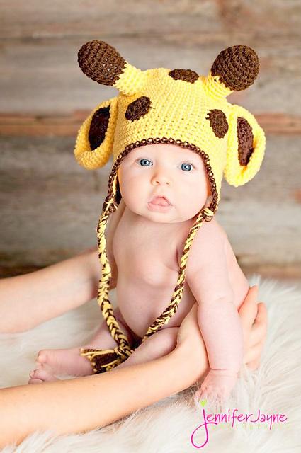 baby giraffe crochet hat pattern