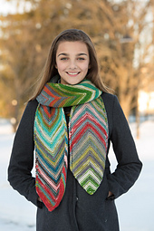 Diagonal Striped Scarf PDF