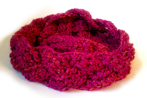 A Surprisingly lovely finished piece! Chunky Braid Cowl { Made by Niccupp Crochet }