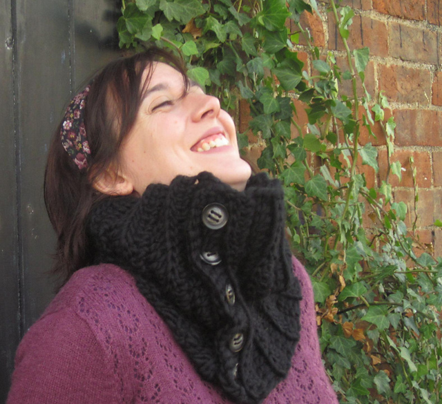 All Buttoned Up Cowl (UK) by Joanne Scrace